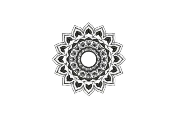 Mandala Style Flower Mandala Embroidery Design By Embroidery Designs - Image 1