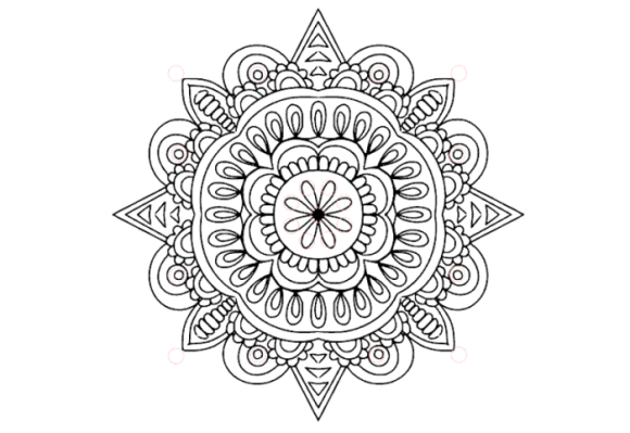Download Free Mandala With Rhinestones Graphic By Siwidesign Creative Fabrica for Cricut Explore, Silhouette and other cutting machines.