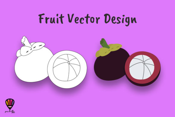 Download Free Mangosteen Fruit Vector Illustration Graphic By Printablesplazza for Cricut Explore, Silhouette and other cutting machines.