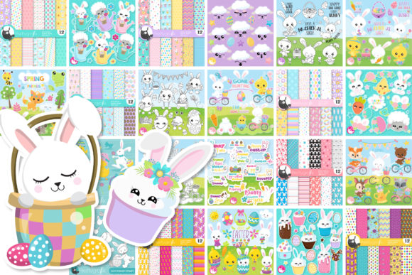 Print on Demand: Mega Easter Bundle - 1250 in 1 Graphic Illustrations By Prettygrafik - Image 2