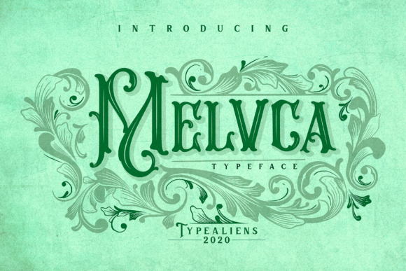 Print on Demand: Melvca Display Font By typealiens - Image 1