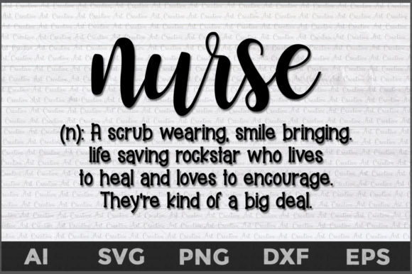 Download Free Nurse Definition Graphic By Aartstudioexpo Creative Fabrica for Cricut Explore, Silhouette and other cutting machines.