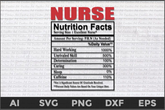 Nurse Nutritions Facts Graphic Crafts By AartStudioExpo