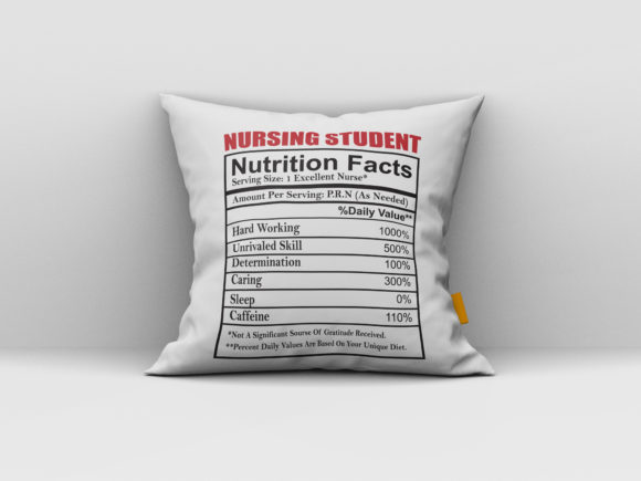 Download Free Nursing Student Nutrition Fact Graphic By Aartstudioexpo Creative Fabrica for Cricut Explore, Silhouette and other cutting machines.