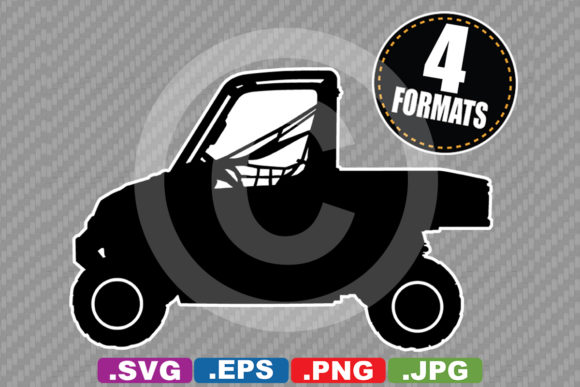 Download Free Off Road Utv Atv Silhouette Graphic By Idrawsilhouettes for Cricut Explore, Silhouette and other cutting machines.