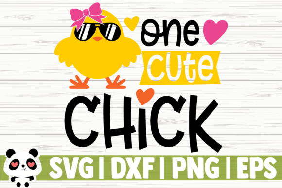 Print on Demand: One Cute Chick- Graphic Illustrations By CreativeDesignsLLC