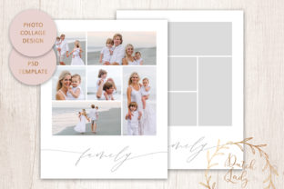 Print on Demand: PSD Photo Collage Template #7 Graphic Print Templates By daphnepopuliers