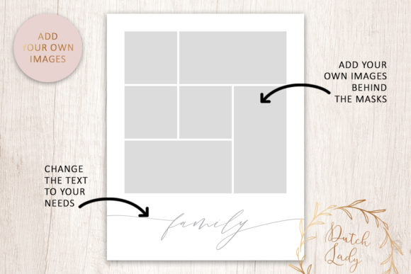 Download Free Psd Photo Collage Template 7 Graphic By Daphnepopuliers Creative Fabrica for Cricut Explore, Silhouette and other cutting machines.