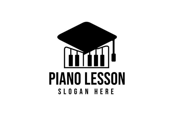 Download Free Piano Lesson Logo Ideas Education Hat A Graphic By for Cricut Explore, Silhouette and other cutting machines.