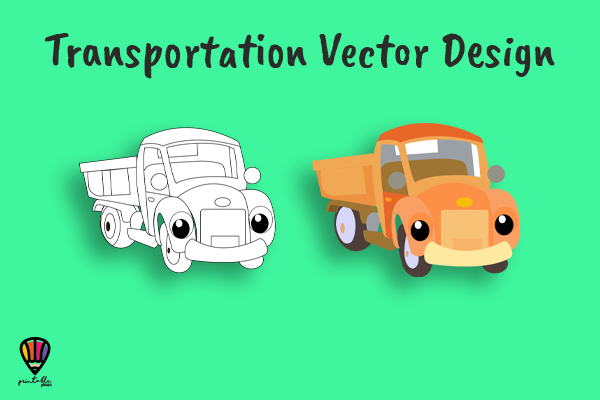 Download Free Pickup Truck Vector Illustration Graphic By Printablesplazza for Cricut Explore, Silhouette and other cutting machines.