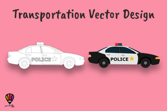 Download Free Police Car Vector Illustration Graphic By Printablesplazza for Cricut Explore, Silhouette and other cutting machines.