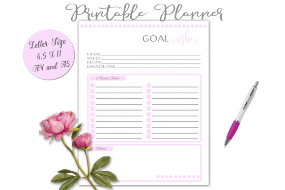 Print on Demand: Printable Planner Set in Pink Graphic Print Templates By Shannon Casper - Image 6