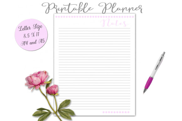 Print on Demand: Printable Planner Set in Pink Graphic Print Templates By Shannon Casper - Image 9