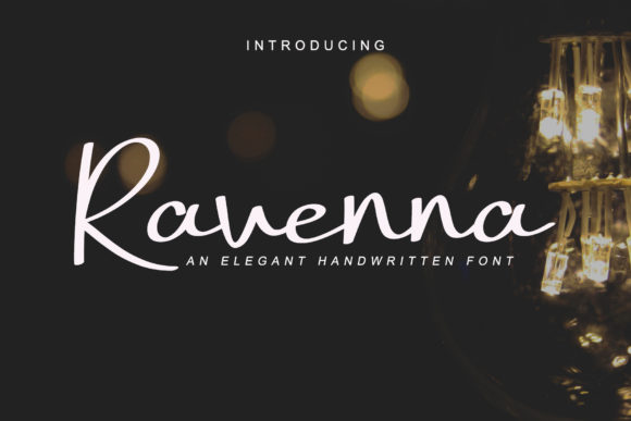 Print on Demand: Ravenna Script & Handwritten Font By AEN Creative Studio