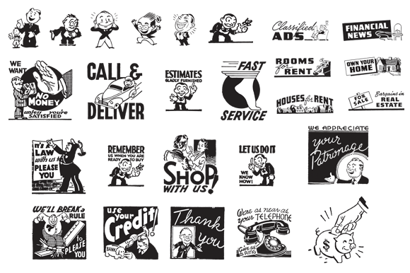 Retro Vector Images Set 1—Ad Cuts Graphic Illustrations By Sensible Eye - Image 2