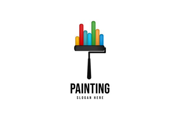 Download Free Roll Painting Logo Ideas Inspiration Lo Graphic By for Cricut Explore, Silhouette and other cutting machines.