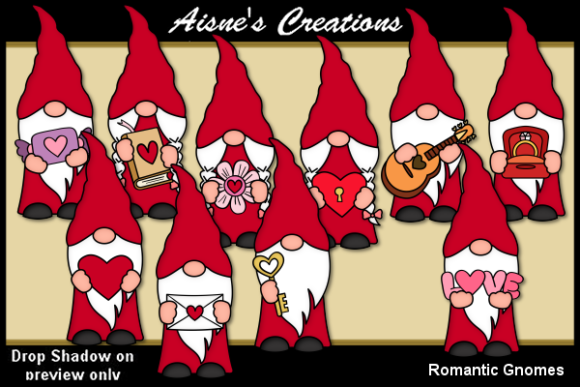 Print on Demand: Romantic Gnomes Graphic Illustrations By Aisne