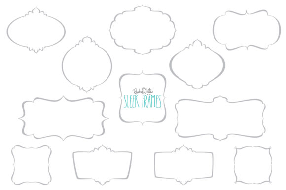 Sleek Frames Vector  Graphic Objects By rachelwhiteart