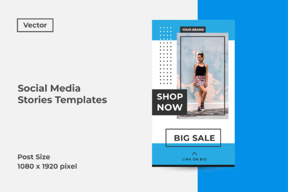 Download Free Social Media Stories Templates Graphic By Dendysign Creative Fabrica for Cricut Explore, Silhouette and other cutting machines.
