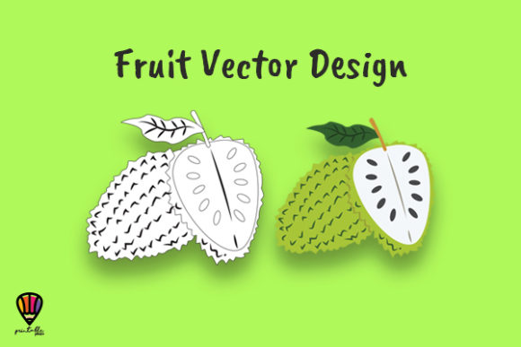 Download Free Soursop Fruit Vector Illustration Graphic By Printablesplazza for Cricut Explore, Silhouette and other cutting machines.