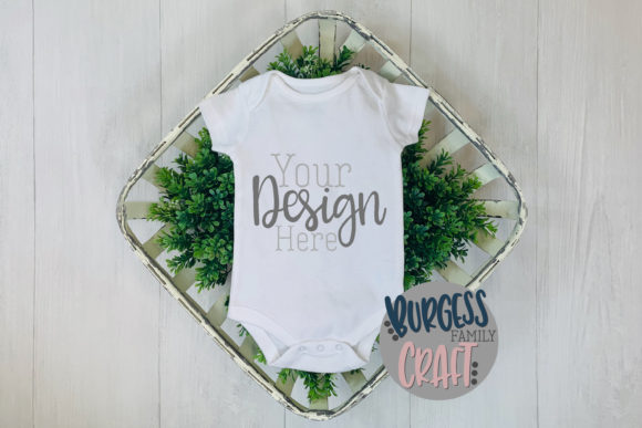 Spring Baby Romper Craft Mock Up Graphic Product Mockups By burgessfamilycraft