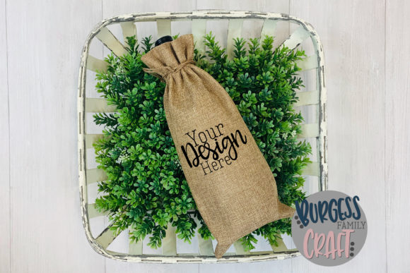 Spring Wine Bag Craft Mock Up Graphic Product Mockups By burgessfamilycraft