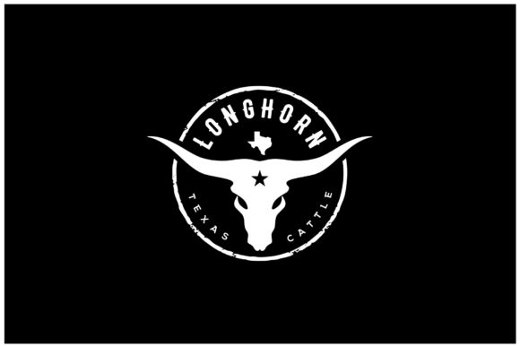 Print on Demand: Texas Longhorn Buffalo Bull Cattle Logo Graphic Logos By Enola99d