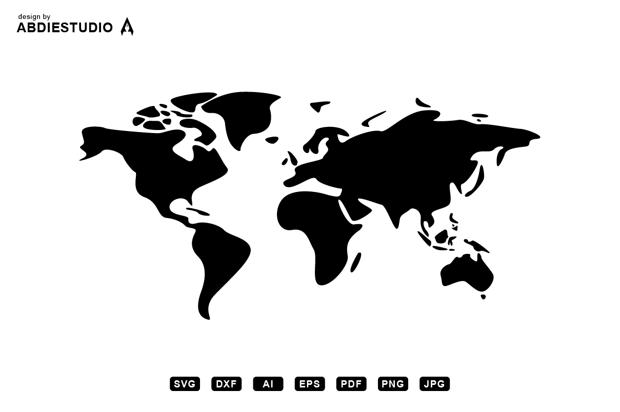 World Map Simple Version Graphic By Abdie Creative Fabrica
