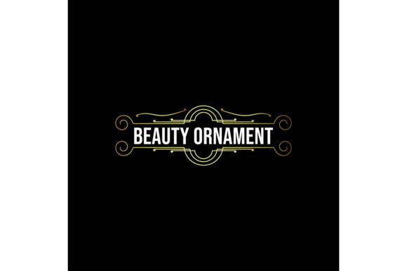 Download Free Beauty Ornament Vintage Mono Line Temp Graphic By Yahyaanasatokillah Creative Fabrica for Cricut Explore, Silhouette and other cutting machines.