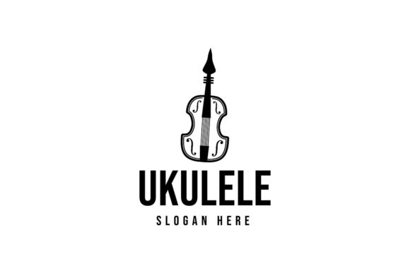 Download Free Ukulele Musical Logo Ideas Inspiration Graphic By for Cricut Explore, Silhouette and other cutting machines.