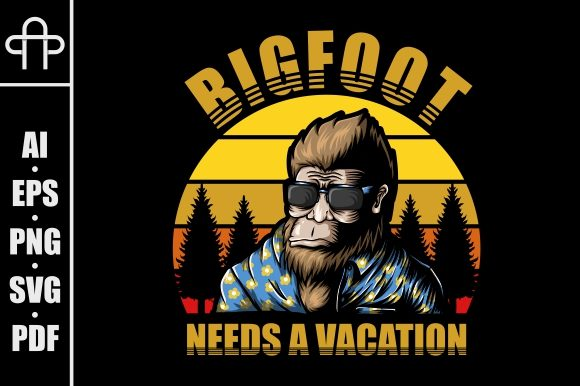 Print on Demand: Bigfoot Needs a Vacation Graphic Illustrations By Andypp