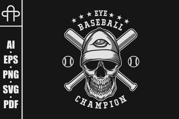Print on Demand: EYE BASEBALL SKULL Graphic Illustrations By Andypp