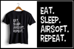 Download Free Eat Sleep Airsoft Repeat Graphic By Zaibbb Creative Fabrica for Cricut Explore, Silhouette and other cutting machines.