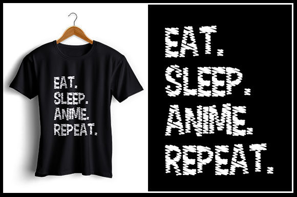 Download Free Eat Sleep Anime Repeat Graphic By Zaibbb Creative Fabrica for Cricut Explore, Silhouette and other cutting machines.