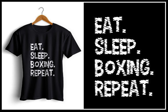 Download Free Eat Sleep Boxing Repeat Graphic By Zaibbb Creative Fabrica for Cricut Explore, Silhouette and other cutting machines.