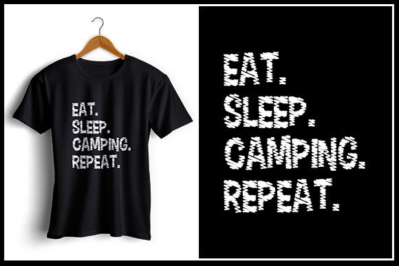 Download Free Eat Sleep Camping Repeat Graphic By Zaibbb Creative Fabrica for Cricut Explore, Silhouette and other cutting machines.