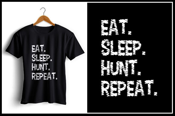 Download Free Eat Sleep Hunt Repeat Graphic By Zaibbb Creative Fabrica for Cricut Explore, Silhouette and other cutting machines.