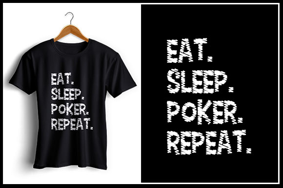 Download Free Eat Sleep Poker Repeat Graphic By Zaibbb Creative Fabrica for Cricut Explore, Silhouette and other cutting machines.