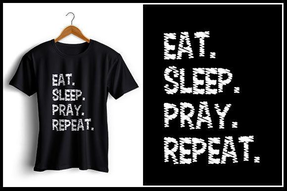 Download Free Eat Sleep Pray Repeat Graphic By Zaibbb Creative Fabrica for Cricut Explore, Silhouette and other cutting machines.