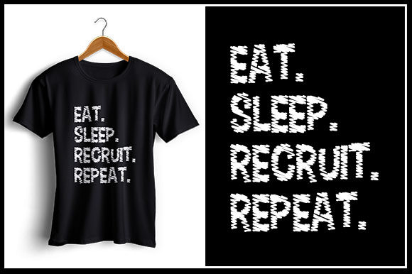 Download Free Eat Sleep Recruit Repeat Graphic By Zaibbb Creative Fabrica for Cricut Explore, Silhouette and other cutting machines.