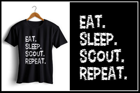 Download Free Eat Sleep Scout Repeat Graphic By Zaibbb Creative Fabrica for Cricut Explore, Silhouette and other cutting machines.