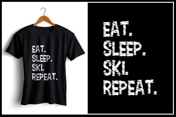 Download Free Eat Sleep Ski Repeat Graphic By Zaibbb Creative Fabrica for Cricut Explore, Silhouette and other cutting machines.