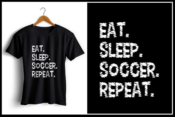 Download Free Eat Sleep Soccer Repeat Graphic By Zaibbb Creative Fabrica for Cricut Explore, Silhouette and other cutting machines.