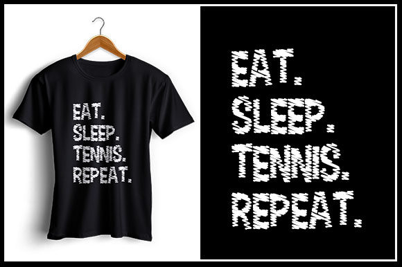 Download Free Eat Sleep Tennis Repeat Graphic By Zaibbb Creative Fabrica for Cricut Explore, Silhouette and other cutting machines.