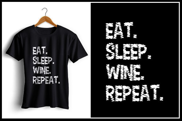 Download Free Eat Sleep Wine Repeat Graphic By Zaibbb Creative Fabrica for Cricut Explore, Silhouette and other cutting machines.