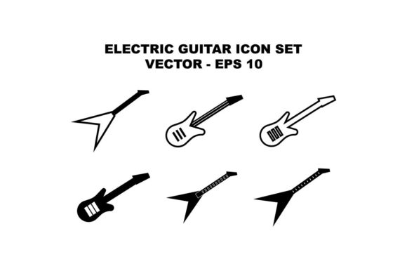 Download Free Electric Guitar Music Icon Set Bundle Graphic By Hoeda80 Creative Fabrica for Cricut Explore, Silhouette and other cutting machines.