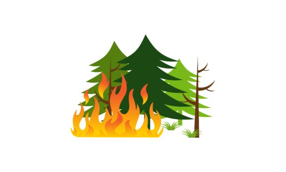 Download Free Forest Fire Natural Disaster Concept Graphic By 2qnah Creative for Cricut Explore, Silhouette and other cutting machines.