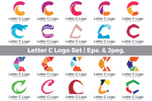 Download Free Letter C Logo Set Graphic By Guardesign Creative Fabrica for Cricut Explore, Silhouette and other cutting machines.