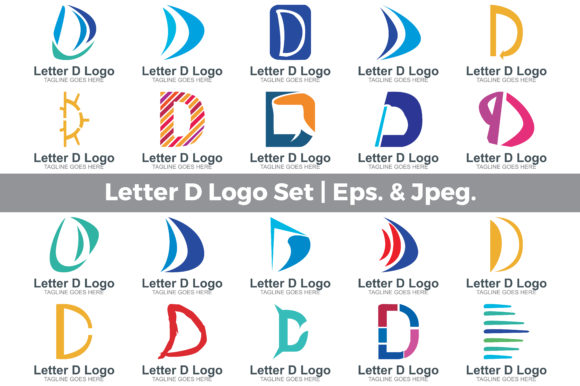 Download Free Letter D Logo Set Graphic By Guardesign Creative Fabrica for Cricut Explore, Silhouette and other cutting machines.