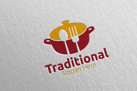 Download Free Traditional Food Logo For Restaurant 33 Graphic By Denayunecf Creative Fabrica for Cricut Explore, Silhouette and other cutting machines.